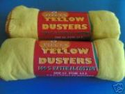 Yellow Dusters/Cleaning Cloths (8 pack)